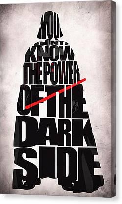Star Wars Inspired Darth Vader Artwork Canvas Print by Ayse Deniz