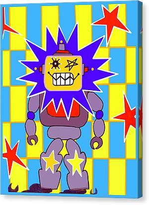 Starbot Robot Canvas Print by Lynnda Rakos
