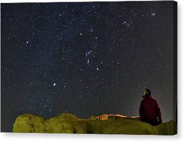 Stargazing In Dasht-e Kavir Canvas Print by Babak Tafreshi
