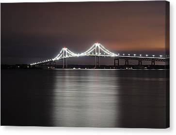 Stargazing In Newport Canvas Print by Luke Moore