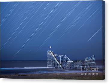 Starjet Under The Stars Canvas Print by Michael Ver Sprill
