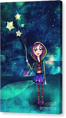Starloons Canvas Print by Kristin Hodges
