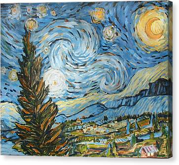 Starry Starry Ned Canvas Print by Al Hart