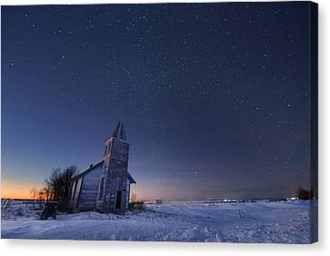 Starry Winter Night Canvas Print by Dan Jurak