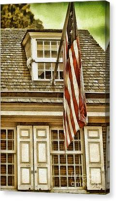 Stars And Stripes Canvas Print by Mo T