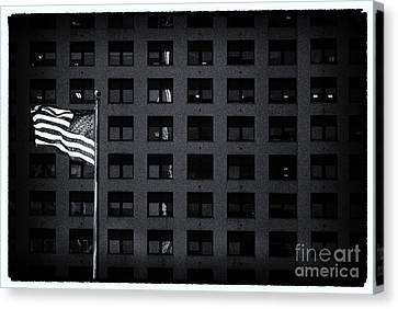 Stars And Stripes New York City Canvas Print by Sabine Jacobs