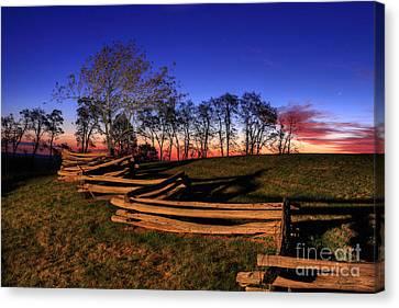 Stars At Sunrise On The Blue Ridge Canvas Print by Dan Carmichael