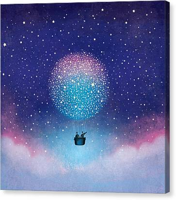 Stars Baloon Canvas Print by Roberto Weigand