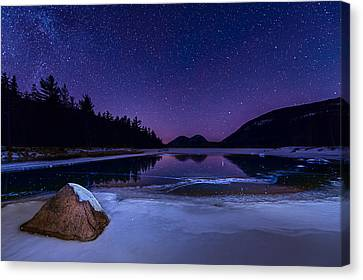 Stars On Ice Canvas Print by Michael Blanchette