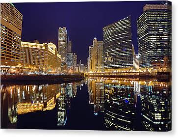 Stars Over Chicago Canvas Print by Nicholas Johnson