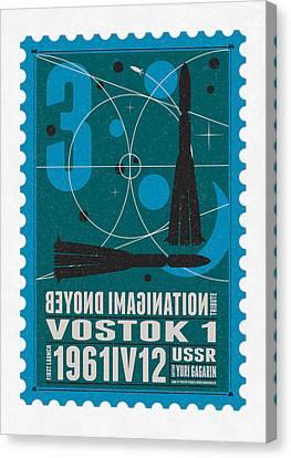Starschips 03-poststamp - Vostok Canvas Print by Chungkong Art