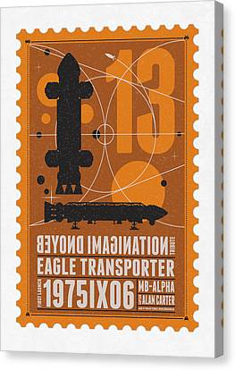 Starschips 13-poststamp - Space 1999 Canvas Print by Chungkong Art