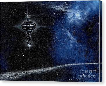 Station In The Stars Canvas Print by Murphy Elliott