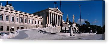 Statue In Front Of A Government Canvas Print by Panoramic Images