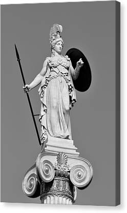 Statue Of Athina Canvas Print by George Atsametakis