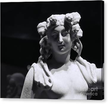 Statue Of Dionysus Canvas Print by Catherine Fenner
