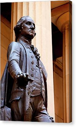 Statue Of George Washington At The Site Canvas Print by Brian Jannsen