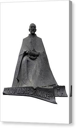 Statue Of Henryk Sienkiewicz  Canvas Print by Fabrizio Troiani