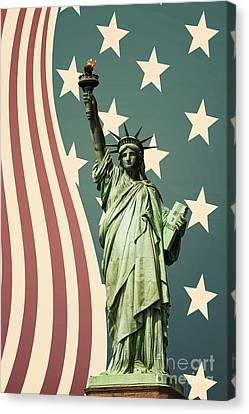 Statue Of Liberty Canvas Print by Juli Scalzi