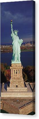 Statue Of Liberty, Nyc, New York City Canvas Print by Panoramic Images