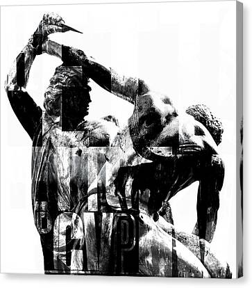 Statue With Texture Canvas Print by Toppart Sweden