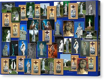 Statues Collage Canvas Print by Thomas Woolworth
