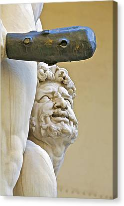 Statues Of Hercules And Cacus Canvas Print by David Letts
