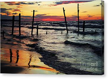 Stay Ashore Canvas Print by Barbara McMahon