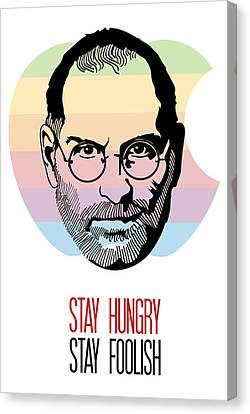 Stay Hungry Stay Foolish Canvas Print by Florian Rodarte