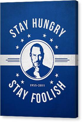 Stay Hungry Stay Foolish - Ice Blue Canvas Print by Aged Pixel