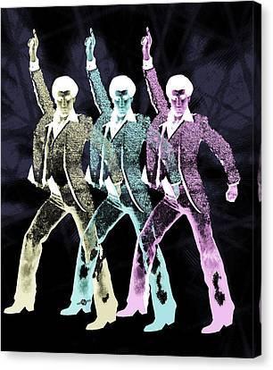 Stayin Alive Pop 3 Black Canvas Print by Tony Rubino