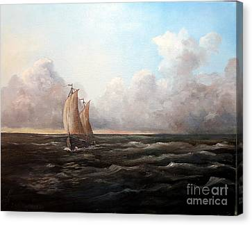 Staying Ahead Of The Weather Canvas Print by Lee Piper