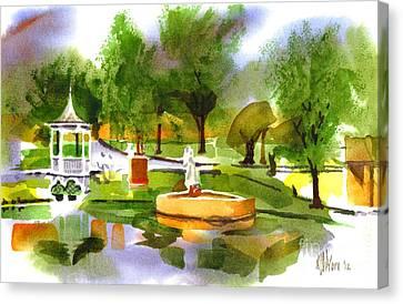Ste Marie Du Lac In Watercolor IIb Canvas Print by Kip DeVore