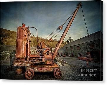 Steam Crane Canvas Print by Adrian Evans