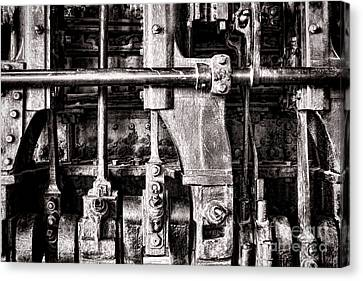 Steam Engine Canvas Print by Olivier Le Queinec