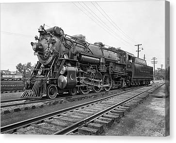 Steam Locomotive Crescent Limited C. 1927 Canvas Print by Daniel Hagerman