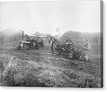 Steam Ploughing Machine Canvas Print by Library Of Congress