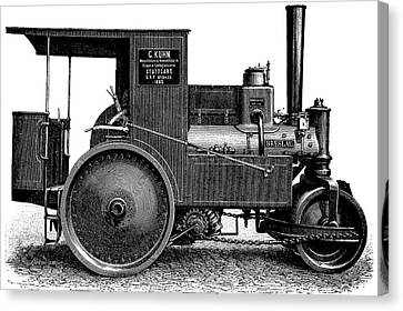 Steam Road Roller Canvas Print by Bildagentur-online/tschanz