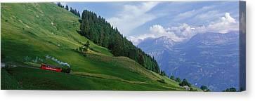 Steam Train Near Brienz Switzerland Canvas Print by Panoramic Images