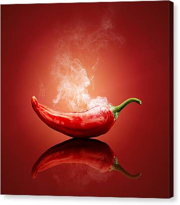 Steaming Hot Chilli Canvas Print by Johan Swanepoel