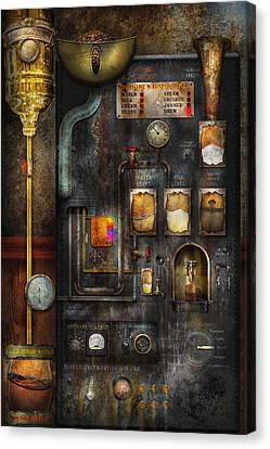 Steampunk - All That For A Cup Of Coffee Canvas Print by Mike Savad
