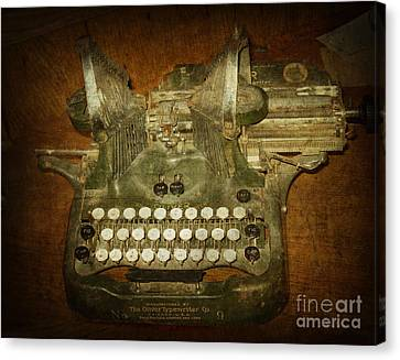 Steampunk Antique Typewriter Oliver Company Canvas Print by Svetlana Novikova