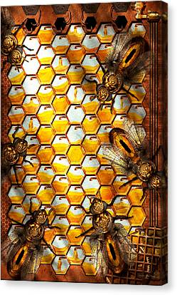 Steampunk - Apiary - The Hive Canvas Print by Mike Savad