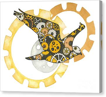 Steampunk Bird Canvas Print by Nora Blansett