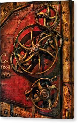 Steampunk - Clockwork Canvas Print by Mike Savad