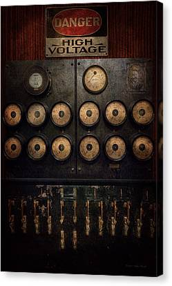 Steampunk - Electrical - Center Of Power Canvas Print by Mike Savad