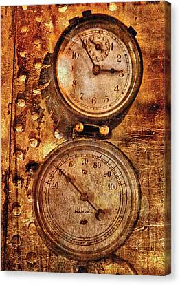 Steampunk - Gauges Canvas Print by Mike Savad