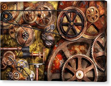 Steampunk - Gears - Inner Workings Canvas Print by Mike Savad