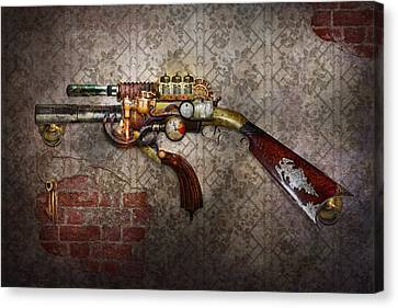 Steampunk - Gun - The Sidearm Canvas Print by Mike Savad