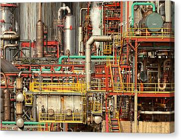 Steampunk - Industrial Illusion Canvas Print by Mike Savad